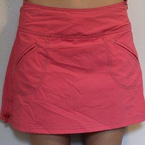 Pink athleta skort. Quick dry size 4p